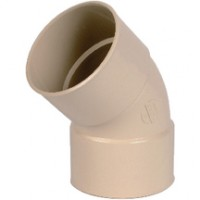 Coude PVC33 45° femelle-femelle sable NICOLL