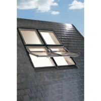 Fenêtre de toit WDF R7 9T bois aluminium 114x118cm ROTO