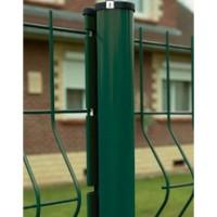 Poteau AXOR plastifié vert RAL 6005 longueur 2,20 m DIRICKX