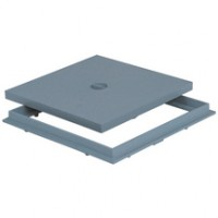 Tampon de sol PVC avec cadre gris 300x300mm NICOLL