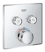 Façade thermostatique GROHTHERM SMARTCONTROL pour montage encastré 2 sorties GROHE