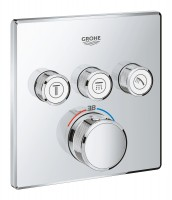 Façade GROHTHERM SMARTCONTROL thermostatique 3 sorties chromé GROHE FREDRICH