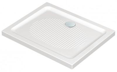 Receveur extra plat à poser CONNECT grès blanc 100x70cm IDEAL STANDARD