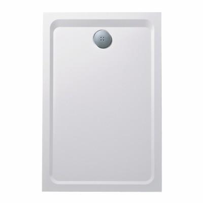 Receveurs à poser  PRIMA STYLE Marbrex blanc antigliss, extra-plat, à poser, 160x90x40cm ALLIA