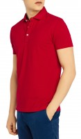 Polo maille coton piqué rouge taille L 180gr