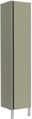 Colonne Plenitude 1 porte 40 cm panier à linge blanc bois