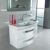 Meuble sous-vasque NICE DAY,  2 tiroirs, 76x47x54cm blanc brillant ALTERNA