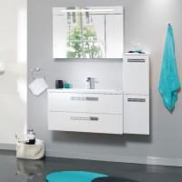 Meuble sous-vasque SEDUCTA 90cm 2 tiroirs blanc brillant