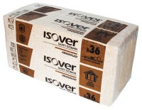 Panneau de laine de verre ISODUO 36 120mm 1,2x0,6m ISOVER