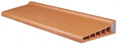 Appui monolithe isolé rouge 10x34.5x88cm TERREAL TLG GUIRAUD