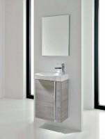 Meuble lave-mains ELEGANCE 45x34x68cm mélamine gris sable