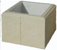 Elément de pilier béton CHEVERNY crème 38x38x25cm WESER