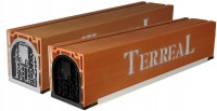 Coffre de volet roulant terre cuite avec sous face 30x31,5x140cm PVC TERREAL