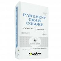Enduit de parement grain coloré WEBER.CAL gris perle 091 25kg