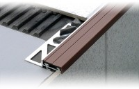 Profilé nez-de-marche DURASTEP en PVC standard DURAL