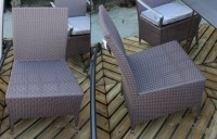 Chaise repas OLYMPE inox blanc 58x56,5cm HEDONE