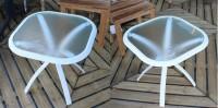 Table basse classique blanche 52x52cm HEDONE