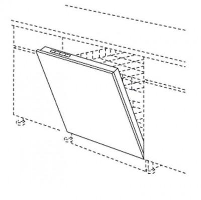 Porte pour lave-vaiselle 45 TWIST gris 57x44.5cm