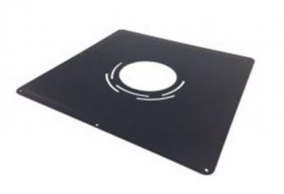 Plaque de liaison noire diamètre 155-161 pour adaptateur 400x400x10mm TEN
