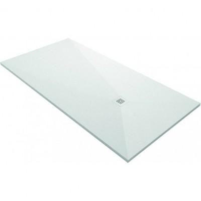 Receveur NINETY slate blanc 100cm