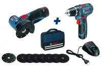 Pack de 2 outils GWS 12V-76 plus GSR 12V-15 avec sacoche BOSCH