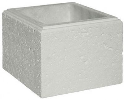 Élément de pilier béton CHAUMONT blanc 35x35x25cm WESER