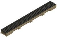 Caniveau béton polymère SELF 100 hauteur 5,5 1m + passerelle PP A15 PMR PLATEFORME MATERIAUX OUTI
