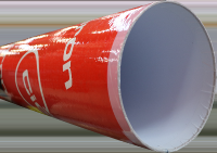 Tube coffrage carton rond lisse diamètre 350mm 3m DINOBAT LE CHEYLAS