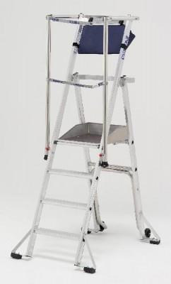 Plate-forme PIRL RAPTOR sécurisée 3 marches hauteur 197cm PLATEFORME MATERIAUX OUTI