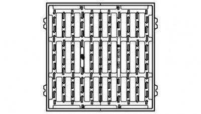 Grille fonte concave C 500 C250 522x522-451x451mm EJ