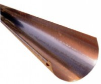 Gouttière 1/2 rond 33 cuivre 4ml 55/100 SAVOIE METAL TOITURE / SMT