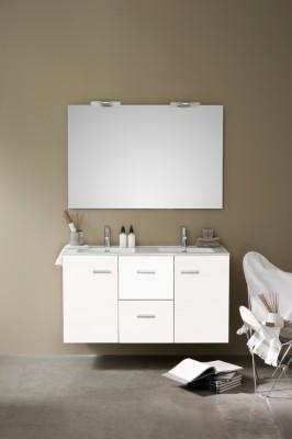 meuble woodstock 2 portes 2 tiroirs 120 cm laqu blanc