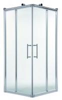 Accès d'angle de douche extensible de 88.5 à 90cm verre transparent OTTOFOND