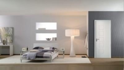 Bloc-porte alvéolaire CUBISME MODERNA huisserie Perf+ 86mm blanc 204x83cm poussant droit JELD-WEN