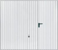 Porte de garage basculante à portillon droit H. 2m x l. 2.375m TUBAUTO