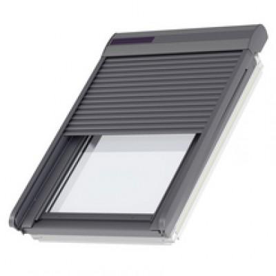 Volet roulant solaire SSL pour fenêtre de toit UK08 aluminium gris anthracite 134x140cm VELUX