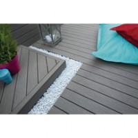 Lame de terrasse bois composite 20 classic gris lunaire 20x127x3050mm FIBERON