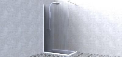 Paroi DOMINO WALK Timeless verre sérigraphie onde 120cm