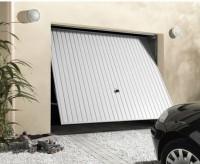 Porte de garage basculante en acier blanc s/port 200x240x10cm