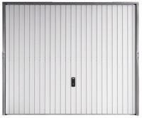 Porte de garage basculante acier blanc S/port 200x250