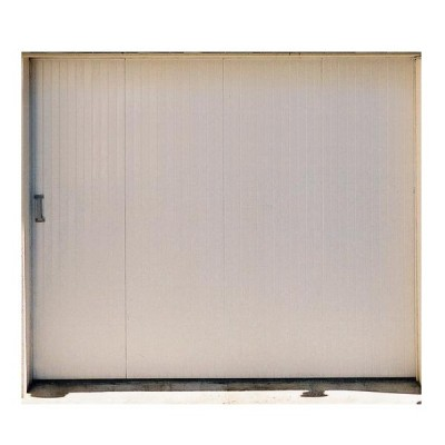 Porte de garage coulissante pvc sans hublots gauche 3 for Garage audi chambray les tours