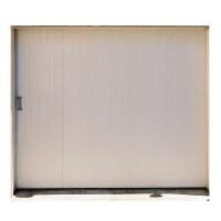 Porte de garage coulissante PVC sans hublots gauche (3) 200x240cm