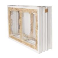 Cadre seul (3x2) che.Las. fenêtre 2 vantaux 100x100cm