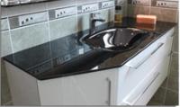 Plan verre INFINY/STYLE noir 1 vasque largeur 60cm