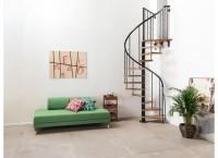 Escalier SYMPHONIE noir bois clair hauteur 274cm