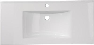 Plan de toilette astuce céramique blanc largeur 80cm