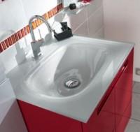 Plan de toilette en verre 1 vasque INFINY STYLE gris L.80cm