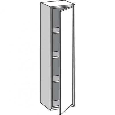 Colonne de salle de bains 1 porte PURE blanc version gauche largeur 30cm