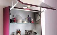 Armoire de toilette INFINY aubergine largeur 80cm
