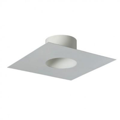 Plaque finition tubage 25x25cm 180em blanc